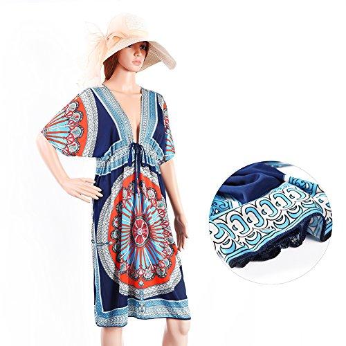 Vbiger Swimwear 1 Dress Bikini Beach Cache vacanze stile Summer Sexy per V Cover neck gqwxrnUgH6