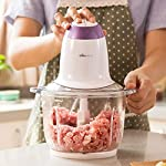 ORPIO (LABEL) ABS Stainless Steel Electric Meat Grinders with Bowl for Kitchen Food Chopper, Meat, Vegetables, Onion…