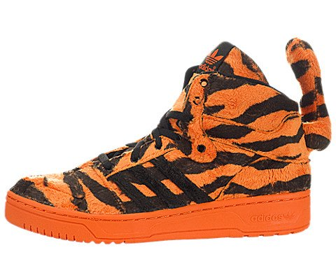 Jeremy Scott Tiger in Orange/Black by Adidas, - Scott Mens Jeremy