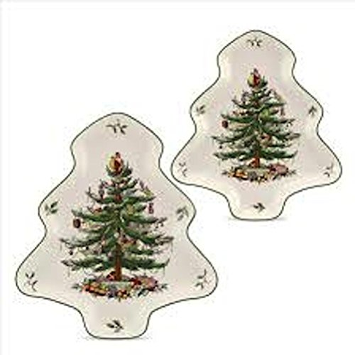 (Spode Christmas Tree 2-Piece Tree Shaped Nesting Dish Set)
