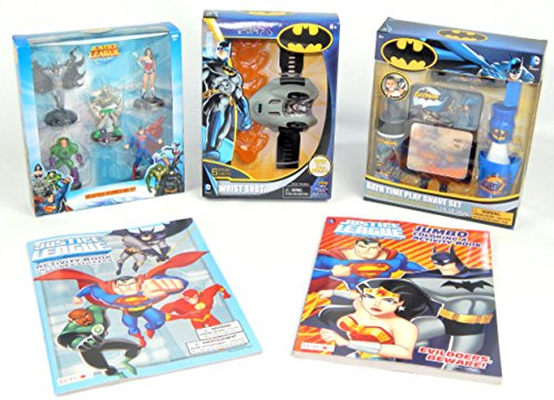 Batman Justice League Toy Action Superhero Figures Bundle Gift Set (Superheroes Outfit)