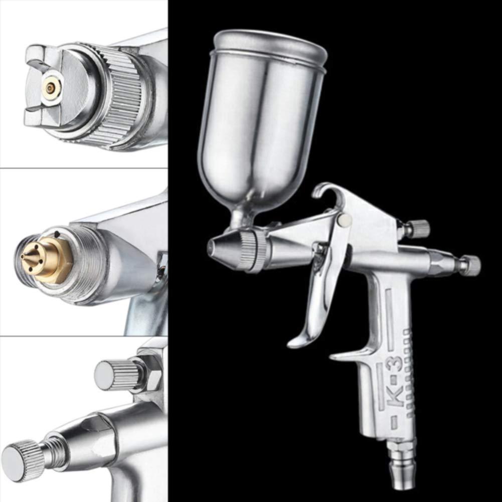 ugello da 0,5 mm Pistola a spruzzo argento professionale con alimentazione a gravit/à per verniciatura auto strumento manuale aerografo pratica mini casa