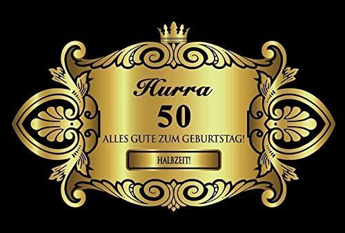 Oblique-Unique® Aufkleber Flaschenetikett Etikett 50 Geburtstag Gold elegant
