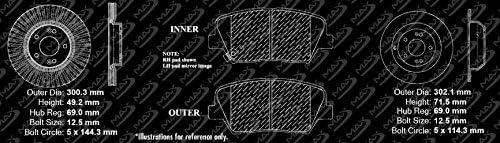 Premium Slotted Drilled Rotors + Ceramic Pads Fits: 2010 10 2011 11 2012 12 Hyundai Santa Fe Max Brakes Front /& Rear Performance Brake Kit KT083533