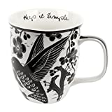 Karma Gifts Boho Black and White Mug, Hummingbird