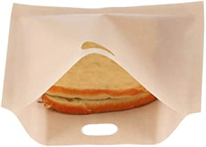 Reusable Toaster Bags, 3 Sizes Nonstick Toast Bags for Heat Resistant, Perfect for Grilled Cheese Sandwiches, Chicken, Pizza, Pastries and Panini(1618CM)