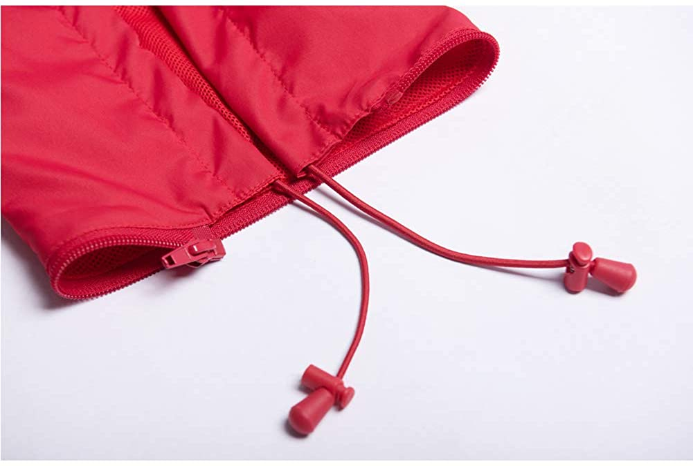 Mens Lightweight Windbreaker Waterproof Rain Jacket with Removable Hood
