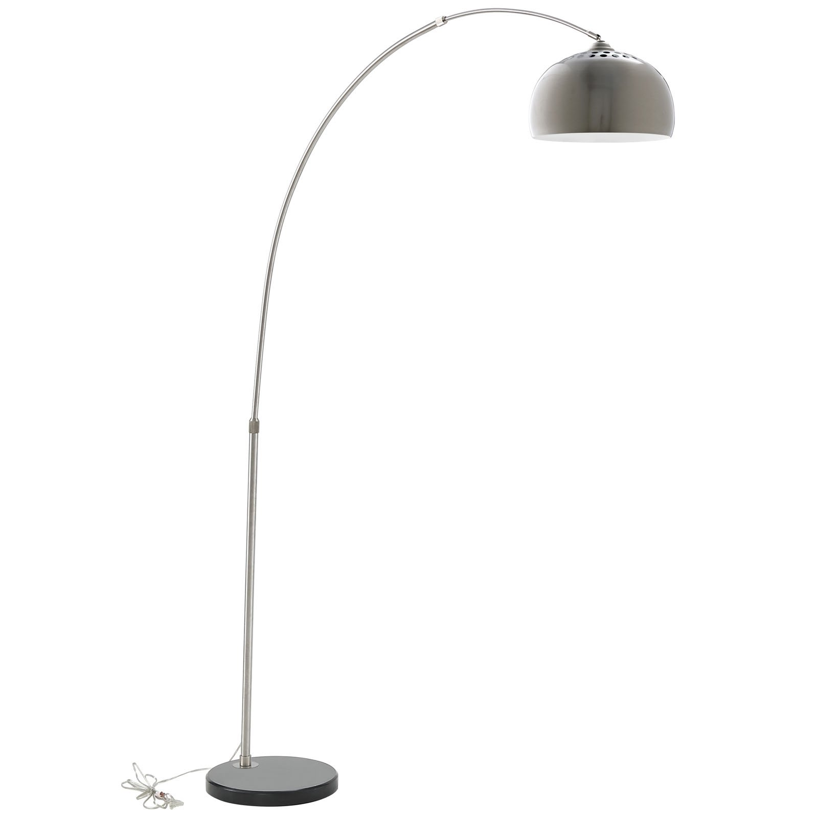 LexMod Arco Style Lamp with Black Round Marble Base