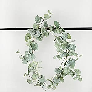 LI HUA CAT Willow Salix Leaf Sweetpotato Leaf Begonia cathayana Hemsl Plant Artificial Vine Plastic Material Vine for Hanging Decoration Wall Decor Make Wreath or DIY use 93