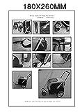 Aosom Elite-Jr Dog Pet Bike Trailer / Stroller w/ Swivel Wheel - Red / Black