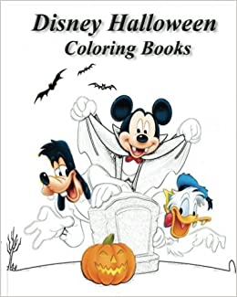Book Disney Halloween Coloring Books: stress Relieving coloring book