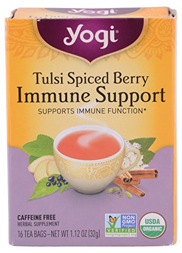 Yogi Tea, Tulsi Spiced Berry Immune Support Organic, 16 Count ()