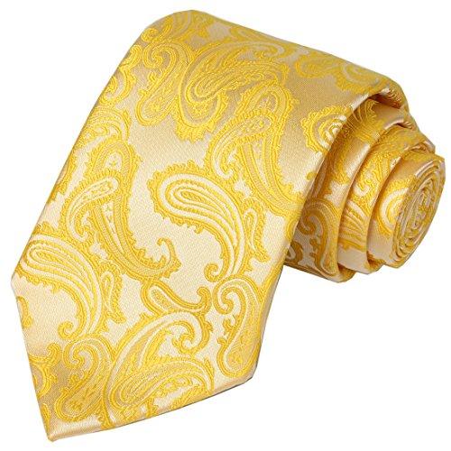 Yellow Paisley Tie - 9