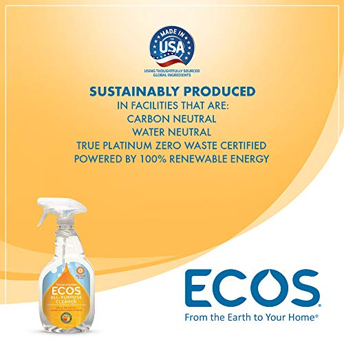 Earth Friendly Products ECOS Orange Plus Cleaner, Ready-to-Use Spray, 22 Fl. Oz. (Pack of 2)