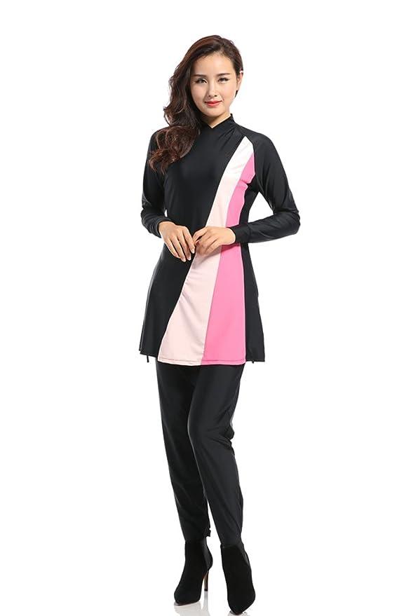Amazon.com  XFentech Womens Fashion Muslim Modest Swimwear Swimsuit  Beachwear Islamic Hijab Swimming Costume  Clothing 8caf74ae3