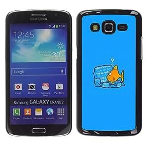 // PHONE CASE GIFT // Duro Estuche protector PC Cáscara Plástico Carcasa Funda Hard Protective Case for Samsung Galaxy Grand 2 / Reading Fish /