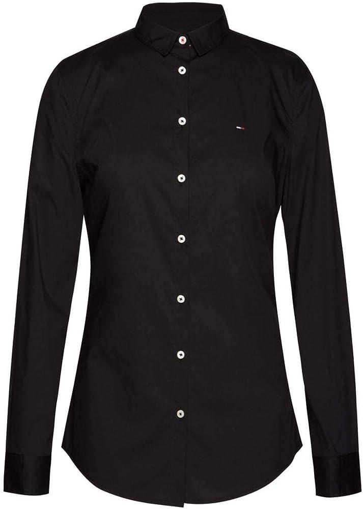 Tommy Jeans Camisa Poplin Negra Mujer L Negro: Amazon.es: Ropa y accesorios
