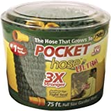 Pocket Hose Ultra Expandable, 75 FT, 3X Stronger