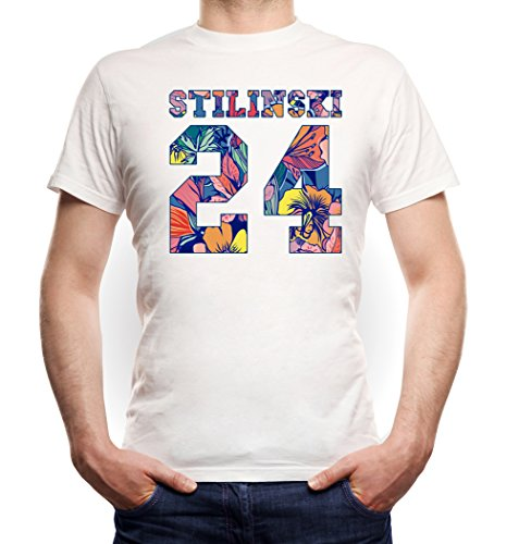 Stilinski 24 Flowers T-Shirt White Certified Freak