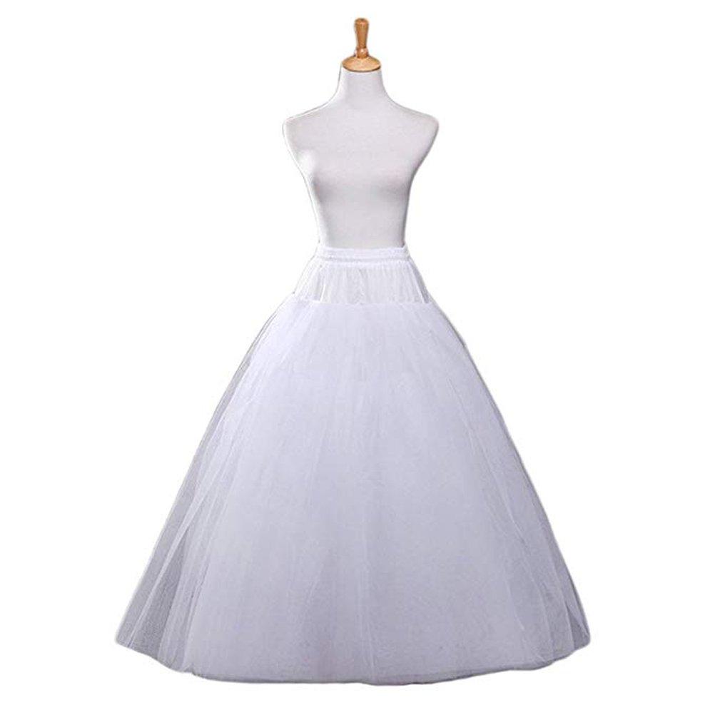 Nicolife A-line Hoopless Petticoat Crinoline Underskirt Slips for Bridal Wedding Dress