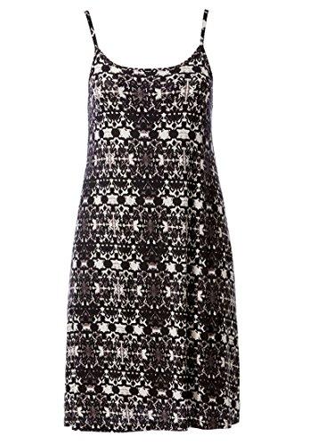Ellos Women's Plus Size Knit Tank Dress - Black Grey Print, L