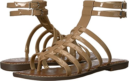 Sam Edelman Women's Gilda Flat Sandal, Almond Patent, 7 M US