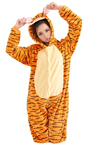 Japsom Unisex-adult Hooded Tiger Halloween Party Fancy Dress Costume M (Tiger Costume Adults)