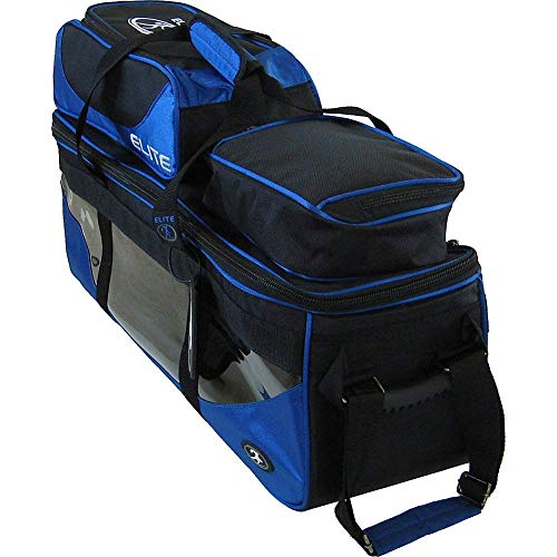 Elite SE Triple Tote Plus Royal Blue Bowling Bag - Carry & Protect Equipment - Durable Bag Holds 3 Bowling Balls