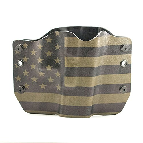 OD Green & Black USA Flag OWB Holster (Right-Hand, Glock 17,19,22,23,25,26,27,28,31,32,34,35,41)