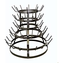 "WINE BOTTLE DRYING RACK, 19"" High X 21"" Wide - HOLDS 64 BOTTLES"
