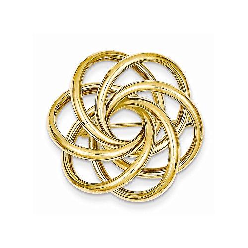 14k Circle Pin, Best Quality Free Gift Box