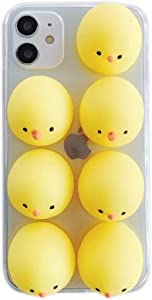 DAYJOY 3D Cute Cartoon Duck Case Compatible with iPhone 12/12 Pro(6.1