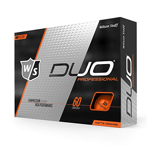 Wilson Staff Duo Pro Golf Ball, Matte Orange