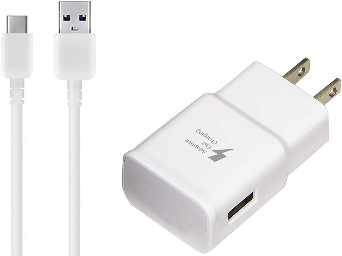 OEM Adaptive Fast Charger Works for Google G020I 15W with Certified USB Type-C Data and Charging Cable. White 3.3FT 1M Cable