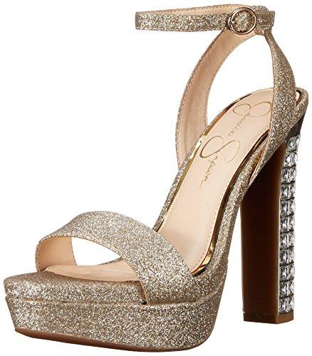 Dress Gold Platform Silver Jessica Sandal BANDA Simpson Women's oq0I0t