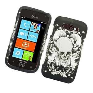 For Samsung Focus 2/I667/Mandel Hard RUBBERIZED 2D Case Skull with Angel