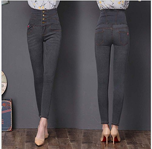 Leggings Keephen Womens Jeggings Denim Gris Slim Taille 3 haute Womens Skinny Stretch FRqR0w1rC