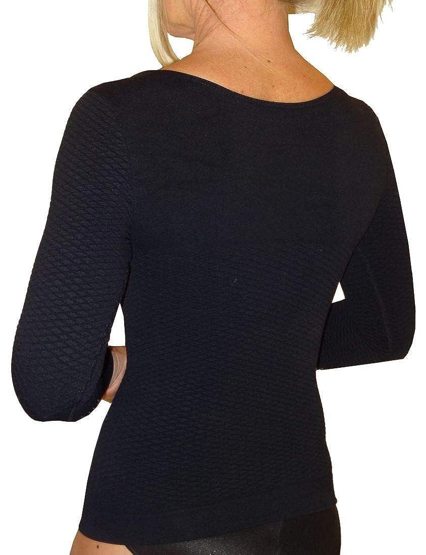 Shaping Thermal Slimming Long Sleeves Woman Vest Anti Cellulite in Emana bioFIR Yarn Cizeta Srl
