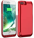 8000 mah charger - iPhone 8 Plus/7 Plus Battery Case, Foxin 8000 mAh Extended Battery Charger Case Rechargeable Power Bank Battery Charging Case for iPhone 8 Plus/7 Plus (5.5 inch) (Red)