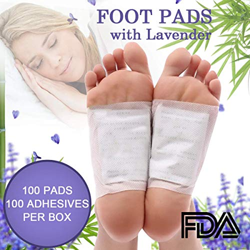 Cleansing Foot Pads - Natural Material for Better Sleep and Stress Relief,100 Foot Pads & 100 Adhesive Sheets ()