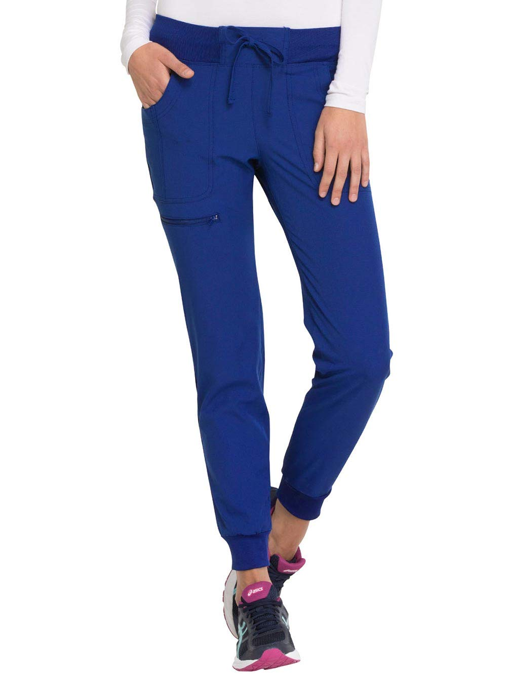 HeartSoul Break On Through HS030 The Jogger Low Rise Tapered Leg Pant (Royal, X-Small Petite) by HeartSoul