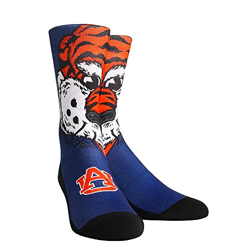 NCAA Auburn Tigers Aubie The Tiger Custom Athletic Crew Socks, Large/X-Large, (Custom Tiger)