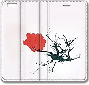E-luckiycase Leather Cover Tree Blossom Case For Samsung Galaxy S5 Cover Case (Inch)
