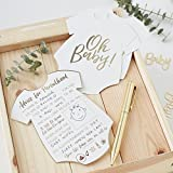 Use these baby shower advice cards for your guests to write their wise words and wisdom at your baby shower. There is even a blank spot for guests to draw something on the card. Put one on each place setting or hand out to guests sitting around a roo...