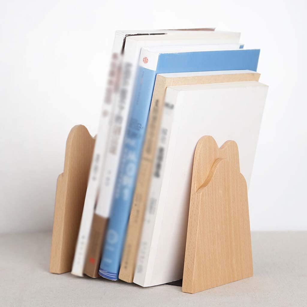 Size : A Book Stand Wooden Book Stand Simple Environmentally Friendly Desktop Office Book Stand Book Baffle Wood Color 2 Sizes Bookshelf