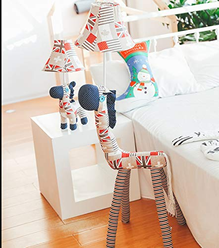 SMC Floor lamp Living Room Simple Modern Creative Cartoon Pony Led Floor Lamp Nordic Vertical Table Lamp Personality Bedroom Floor Lamp (Color : Button Switch, Size : 125cm)