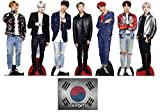 Bangtan Boys with V, Suga, Jin, Jungkook, RM, Jimin and J-Hope Set of 7 Mini Cardboard Cutouts, Fan Pack, Includes 8x10 Star Photo