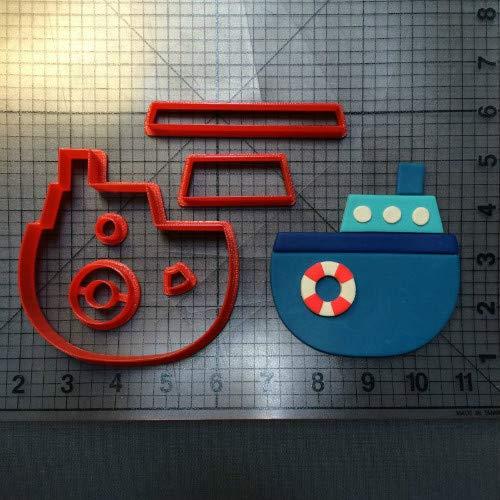 Zoomy Far: Verkehr Werkzeuge Boot Anker-Reihe Ausstechform Maß 3D Printed Fondant-Kuchen-Top Ausstechformenset Kuchen verziert Werkzeug: Boot 3 Zoll