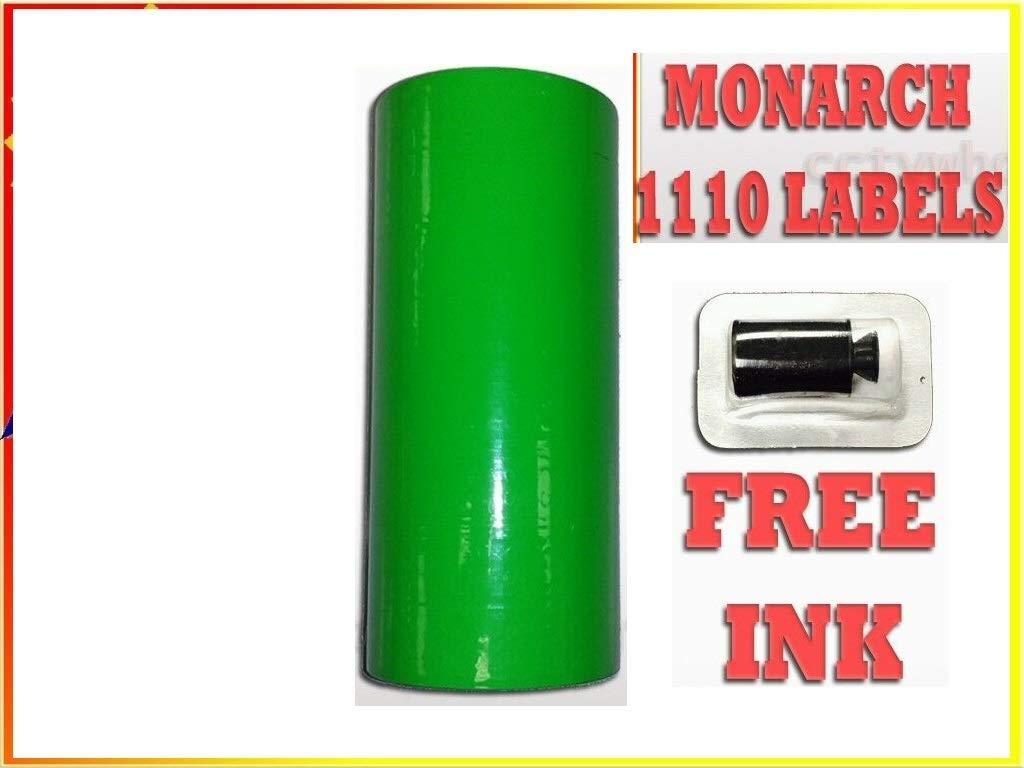 Genuine Monarch 1110 Fluorescent Green Labels One Box