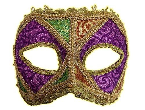 Mardi Gras Glitter Half Mask Gold Deluxe Quality Costume Accessory Womens Dainty